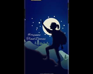 Mobile Case for Apple Iphone 6Plus tough travel diaries woman trek
