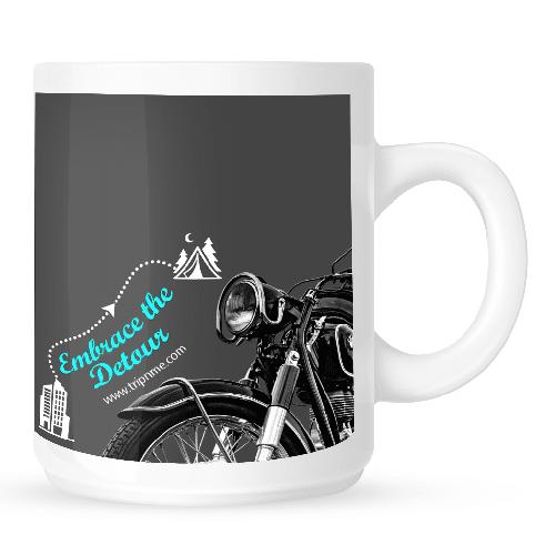 Mug with Embrace-the-detour-bike