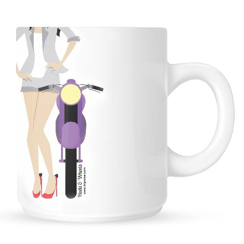 Mug with Heels - white
