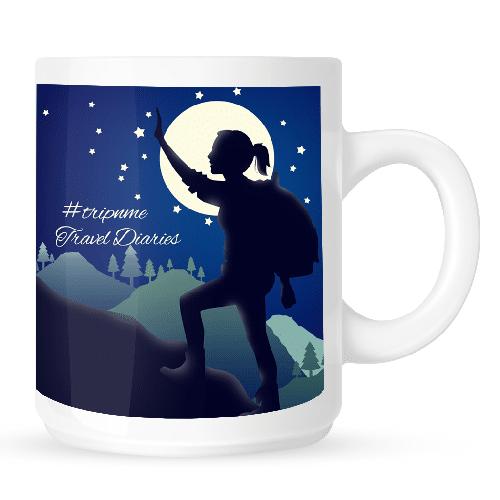 Mug with Travel Diaries woman