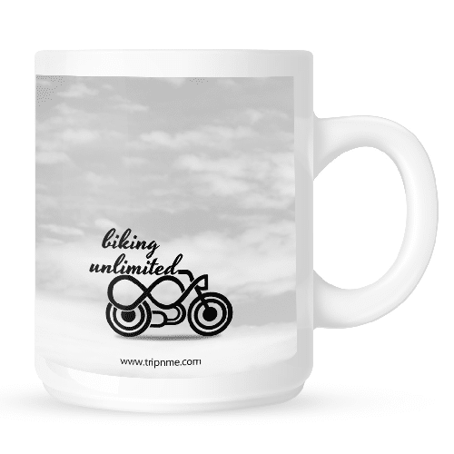 Mug with biking unlimited - clouds