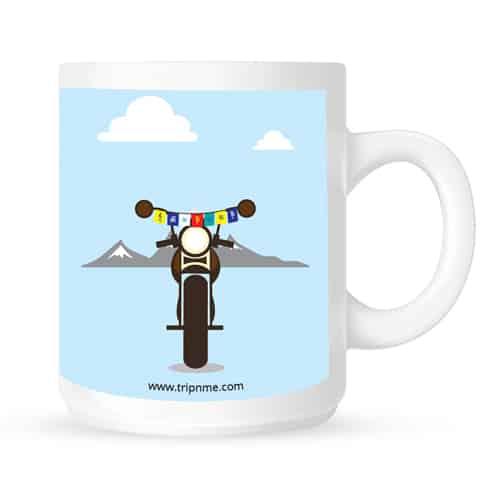 mug with mountain bike