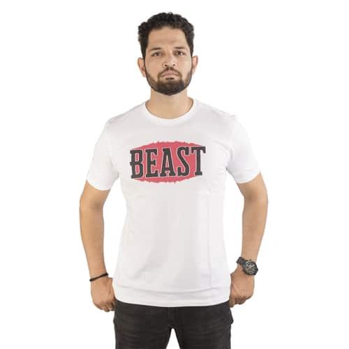 beast white round neck male