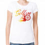 white tshirt with slefism