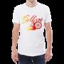 male white tshirt with selfism