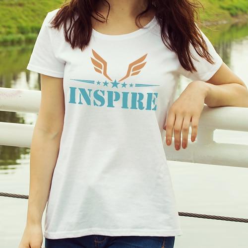 premium tshirt inspire white