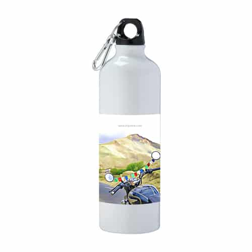 Flask with bike-flags