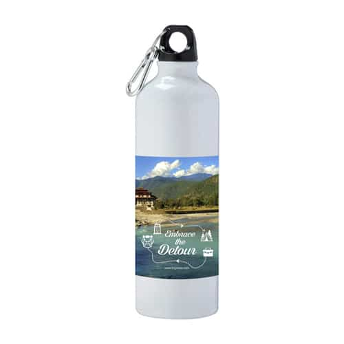 Flask with embrace-the-detour-lake