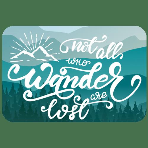 sticker - wander-lost