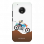 female rider_Moto G5 Plus white Mobile Case