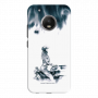 Girl with helmet on bike_Moto G5 Plus gray and white shade Mobile Case