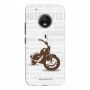 Motorcycle_Moto G5 Plus white Mobile Case