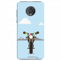 Royal Enfield bike with Julley flag_Moto G6 Plus Mobile Case