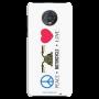 Peace-motorcycle-love_Moto G6 Plus white Mobile Case