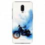 Bike Canvas_OnePlus 6T white and blue shade Mobile Case