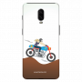 Female rider_OnePlus 6T white Mobile Cases