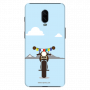 Royal Enfield with Julley flag_OnePlus 6T skyblue Mobile Case