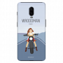 Wrooman power showing girl on bike_Oneplus 6T blue Mobile Cases