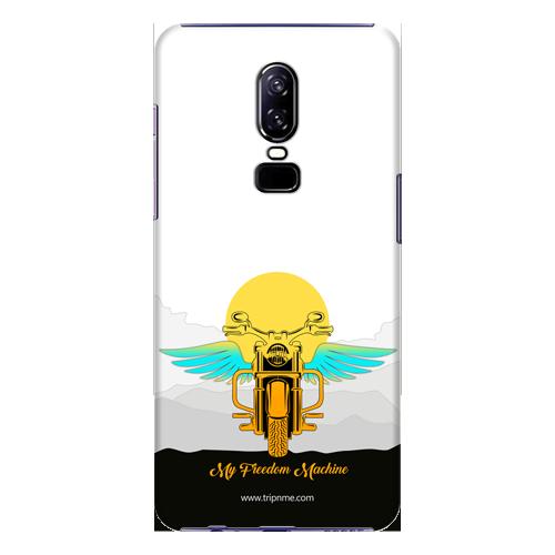 Mobile Case_OnePlus_6_freedom-machine-white_MainBackView