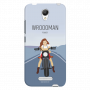 Wrooman Power by showing girl on bike_Redmi Note2 blue Mobile Case