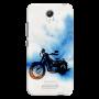 Bike canvas_Redmi Note2 blue and white shade Mobile Case