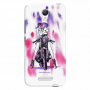 girl on bike_Redmi Note2 pink and purple spots on white Mobile Case