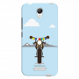 Royal Enfield with Julley flag_Redmi Note2 skyblue Mobile Case