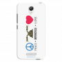 Peace-motorcycle-love_Redmi Note2 white Mobile Case
