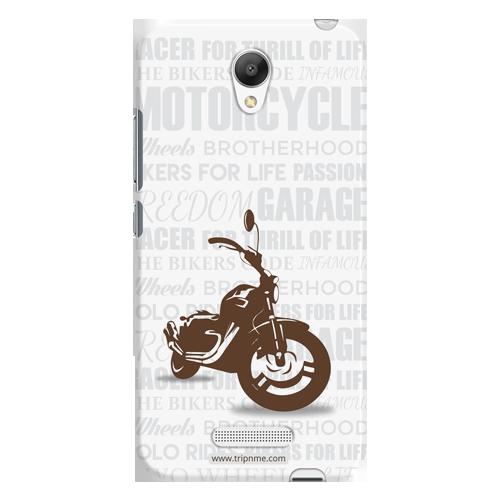 Motorcycle_Redmi Note2 white Mobile Case