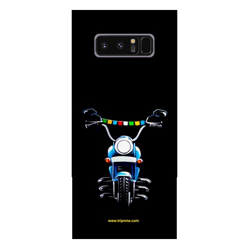 Blue Royal Enfield_Samsung Note8 black Mobile Case
