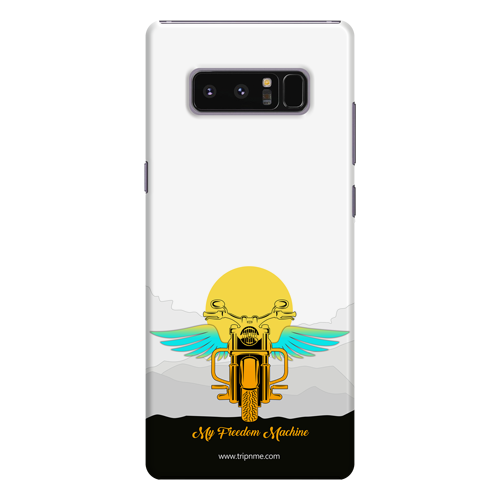 Freedom Machine_ Samsung Note 8 white Mobile Case
