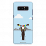 Royal Enfield with julley flag_Samsung Note8 sky blue Mobile Case