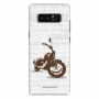 Motorcycle_ Samsung Note8 white Mobile caswe