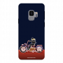 Biker Ridding bike_Samsung S9 Plus neviblue Mobile Case
