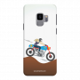 women ridding bike_Samsung S9 Plus white Mobile Case