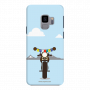 Royal Enfield Bike with Julley falg_Samsung S9 Plus skyblue Mobile Case