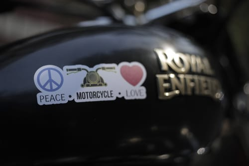 Sticker_Peace love motorcycle