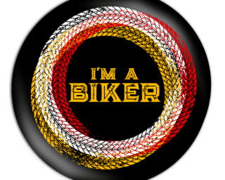 i am a biker_black badge