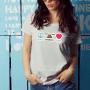 Love Peace_tshirt_white- female