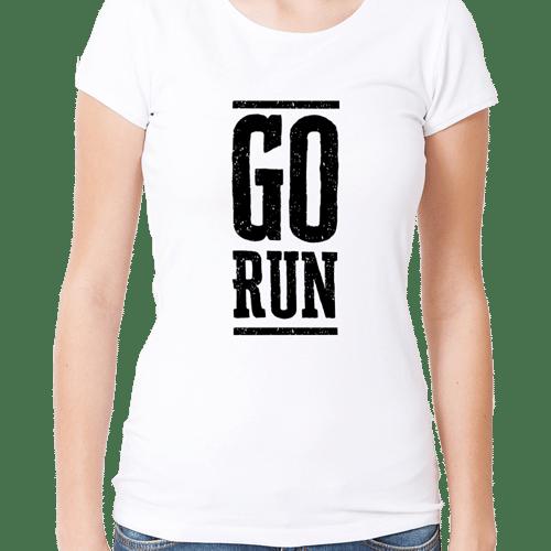 female go run premium tshirt