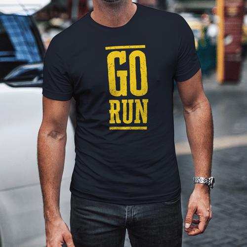 go run balck premium tshirt