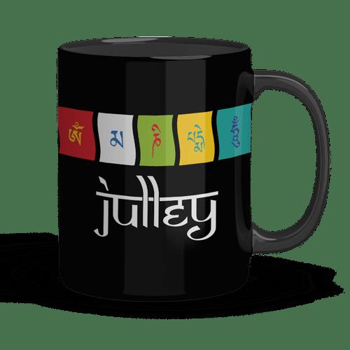black mug with julley