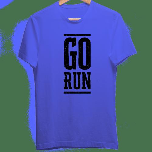 Blue Dry Fit Tshirt Go Run