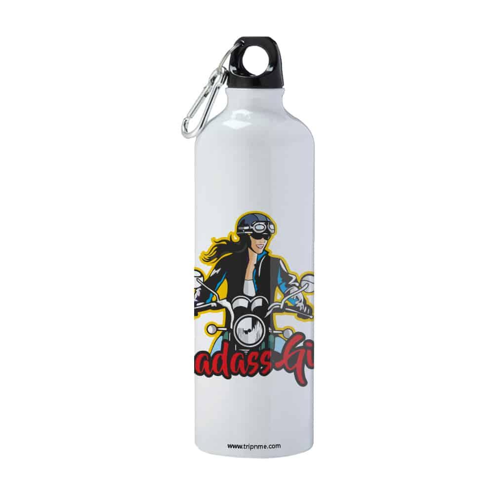flask with badass girl