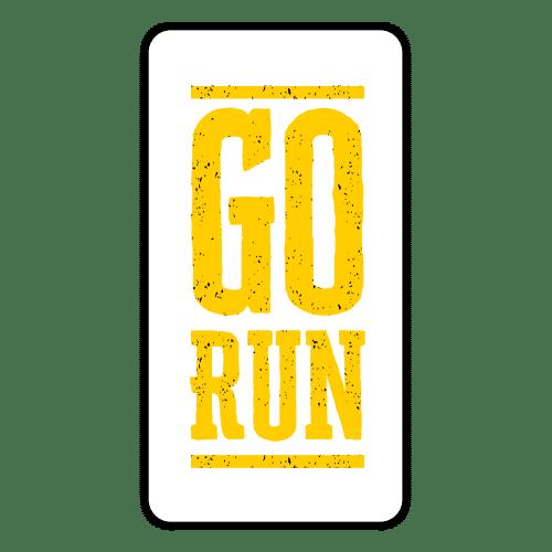 yellow go run transparent sticker
