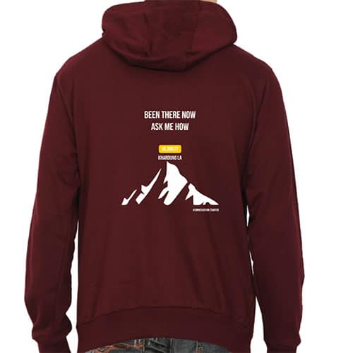 maroon been there now male hoodie