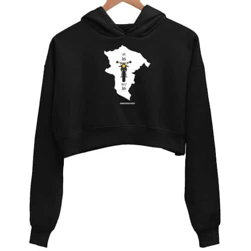 jee leh kar leh black crop hoodie