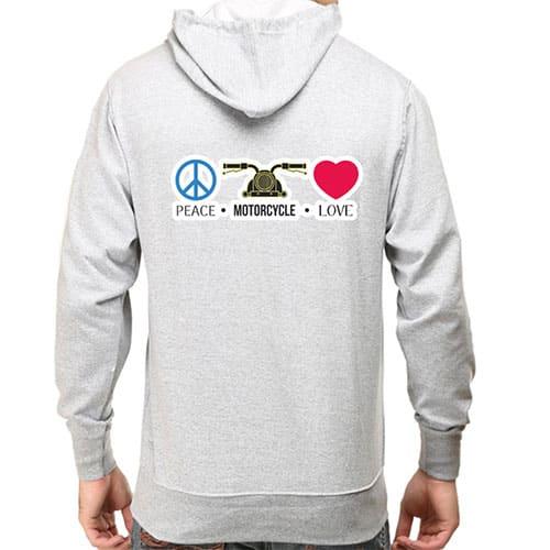 grey peace male hoodie