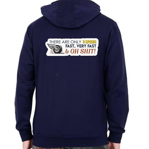 nevy blue male hoodie