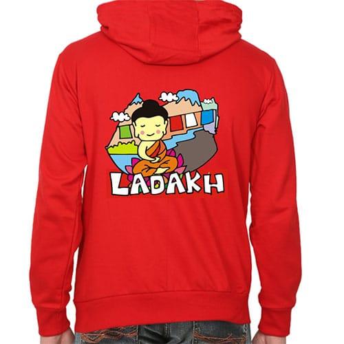 red ladakh male hoodie